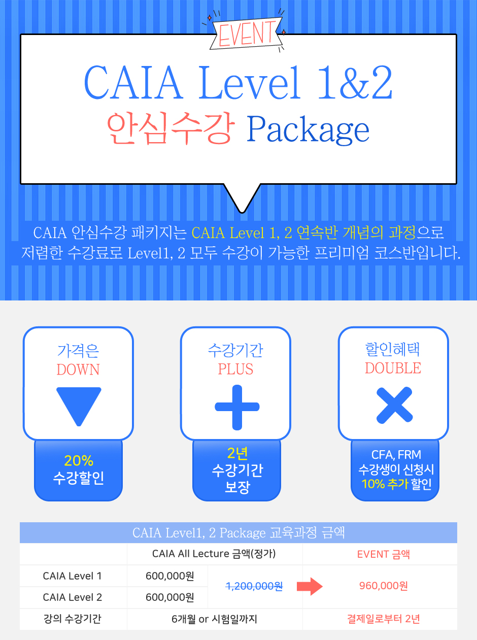 CAIA Level 1&2 안심수강 Package